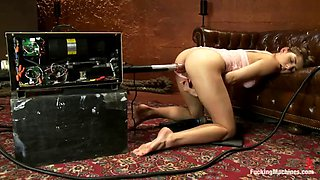 horny beauty lexi bloom enjoys getting fucked by machine