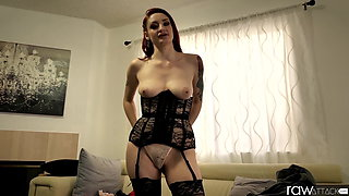 RawAttack - Violet Monroe is punished by a monster cock