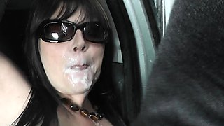 Rest area and car gangbangs with Slutwife Marion