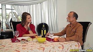 Evelin Stone and Blake Morgan enjoy sharing a handsome man's dick
