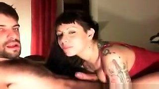 Cute Face Emo Chick Stripping In Front