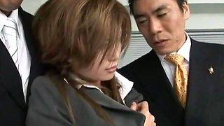 Incredible Japanese model Akane Hotaru in Crazy Gangbang JAV clip