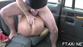 fake taxi is used for a stunning sex
