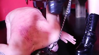 Mistress Iside domination on slave in chastity