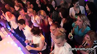 Nasty girls get fully insane and undressed at hardcore party