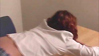 Brutal schoolgirl gets her ass spanked