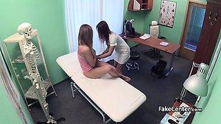 Lesbian nurse fuck horny babe