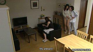 Ardent Japanese brunette MILF Nanako Misaki has nothing against toy fucking