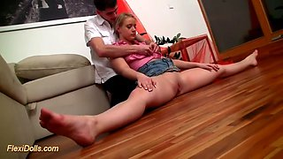 fuck doll michaella satisfies her owner in acrobatic positions