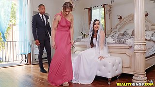 Bride to be Whitney Wright gets her makeup messed up while fucked hard