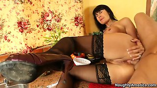 hot mom eva karera takes big cock in her butt hole in the kitchen