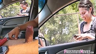 Handjob surprise compilation flash in car