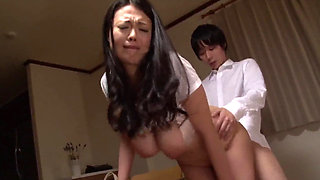 Asian babe with big tits getting fucked