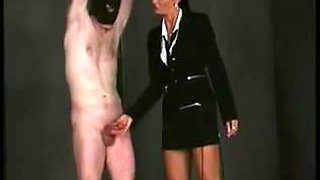 Edged and cock slapped