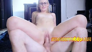 This geeky sex starved blonde reminds me of an old girlfriend of mine
