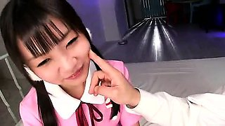 Tight Asian Schoolgirl POV Blowjob
