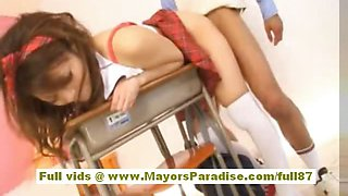 Risa Tsukino asian in school uniform fucking