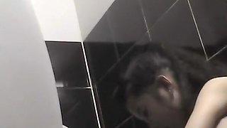 Hidden cam in Vietnam public toilet