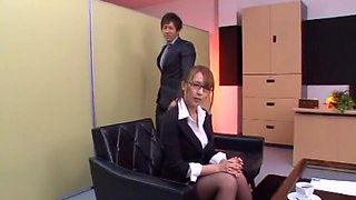 Crazy Japanese model Jessica Kizaki in Exotic Stockings/Pansuto, Office JAV scene
