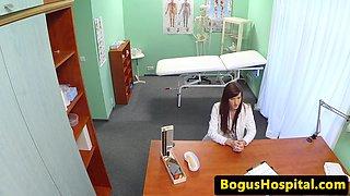 cocksucking euro nurse creampied by the doctor