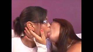 Two Girls Deep Kissing