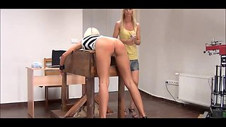 Ass punishment for blonde girl