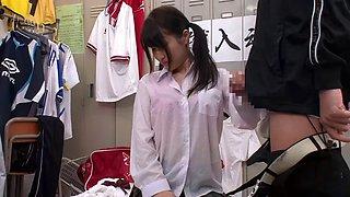 Jap schoolgirl finds the fuck room