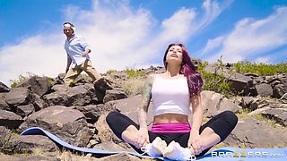 monique alexander gets licked by a stranger in a desert