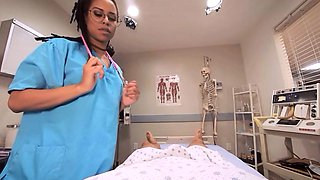 VRBangers.com - Hot Ebony Nurse fucking a Coma patient