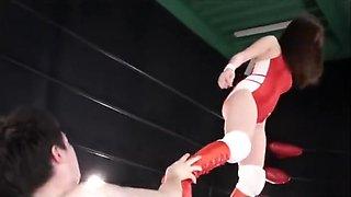 Japanese mixed wrestling battle fuck