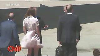 Kate Middleton - Oops New Windy Upskirt No Panties Paparazzi
