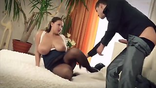 Huge Tits Fucked in Pantyhose