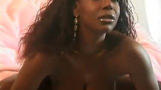 Dark skinned beauty with perfect tits and ass Solange exposes her cunt