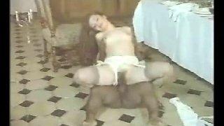 Black midget fucking horny white girl