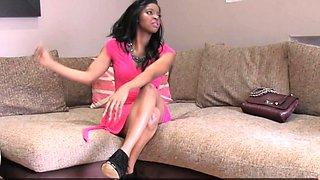 Amazing ebony mistress gets her hole pleased