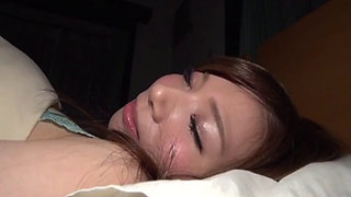 Sleeping Japanese babe getting fucked