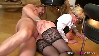 Ajx the boss fuck anal big tits in office