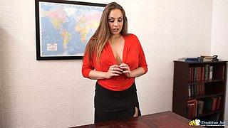 Beautiful lady Sophia Delane flashes her fine breasts