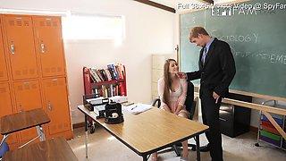 Nina Skye: School Teacher Seduces Her Stepdad Principal