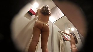 Dressing room, two girls, exposed tits