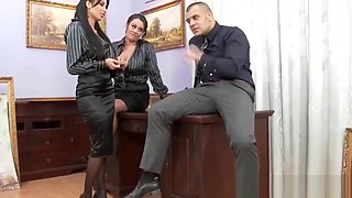 Two Nasty Office Girls Fuck One Lucky Boss