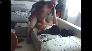 Chinese old couple in the living room obscene live sex 03