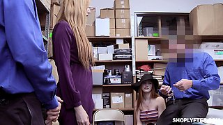 Scarlett Snow and another babe have to please two security guards