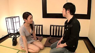 Young Japanese beauty in sexy black nylons goes hardcore