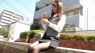 japanese pantyhose and footjob sex 3