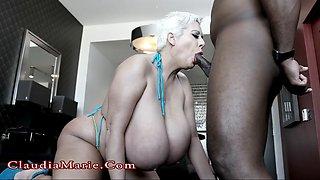 Drunk BBW gets fucked by a big black dude