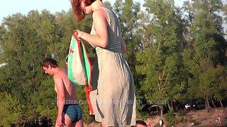 Nude beach ukraine. teen naked girl big boobs. exhibitionist