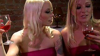Annoying Blonde Bride Gets Tied Up and Spanked By Her Bridesmaids