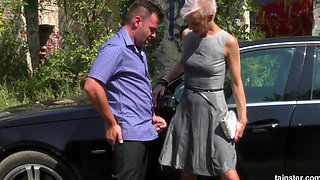 pissinginaction mature blonde bimbo hitchhiker loves his piss