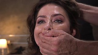 Hairy Slave In Stockings Threesome Tormented